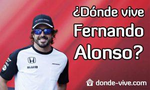 ¿Dónde vive Fernando Alonso?